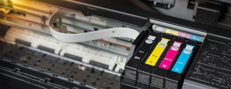 toner cartridge in a printer